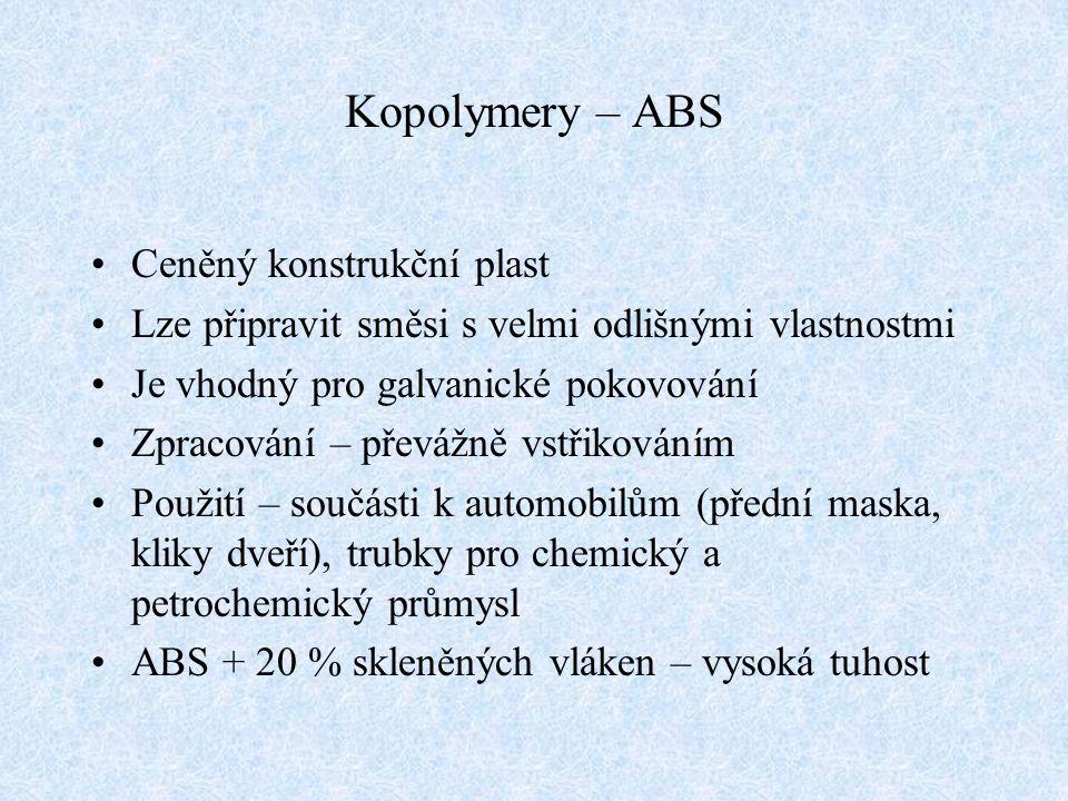 Kopolymery – ABS Ceněný konstrukční plast