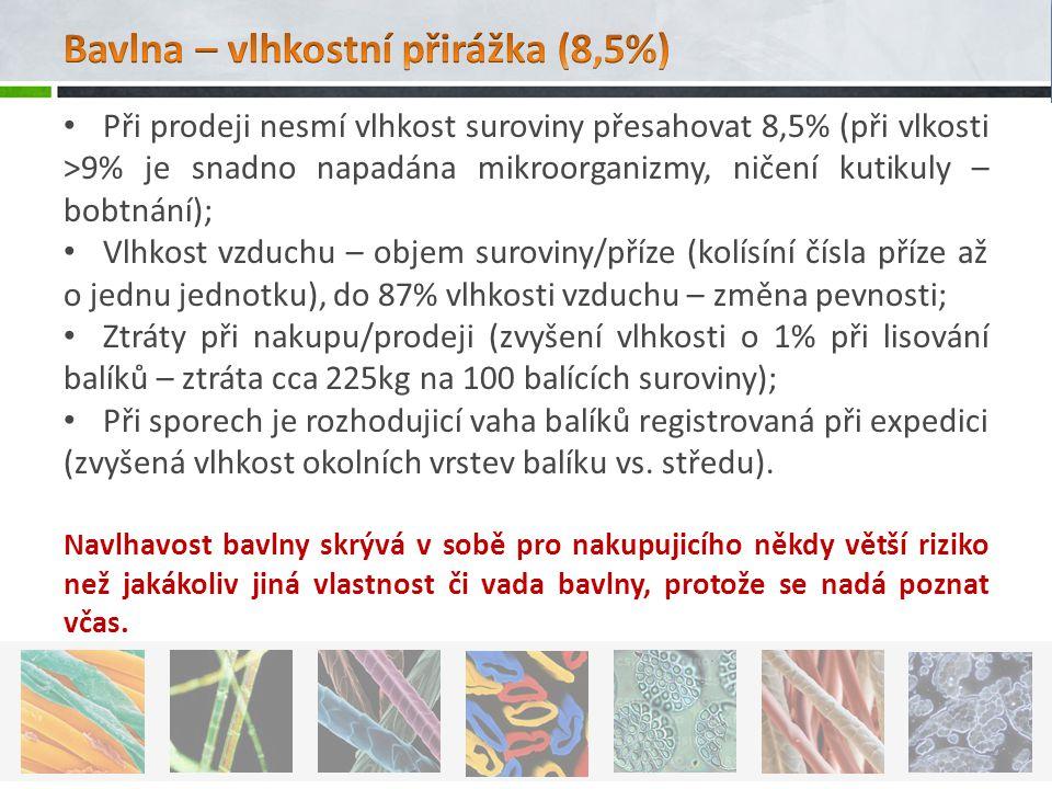 Bavlna – vlhkostní přirážka (8,5%)