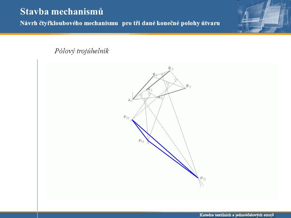 Stavba mechanismů Pólový trojúhelník
