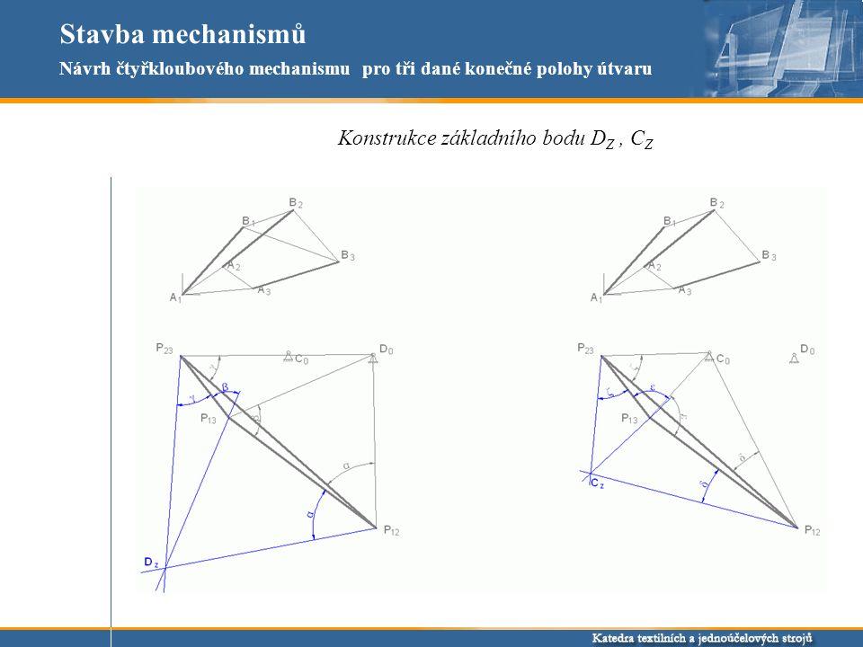 Stavba mechanismů Konstrukce základního bodu DZ , CZ