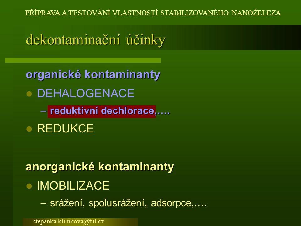 dekontaminační účinky