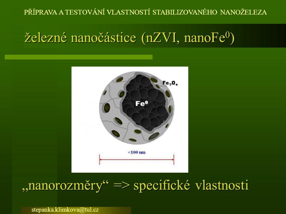 železné nanočástice (nZVI, nanoFe0)