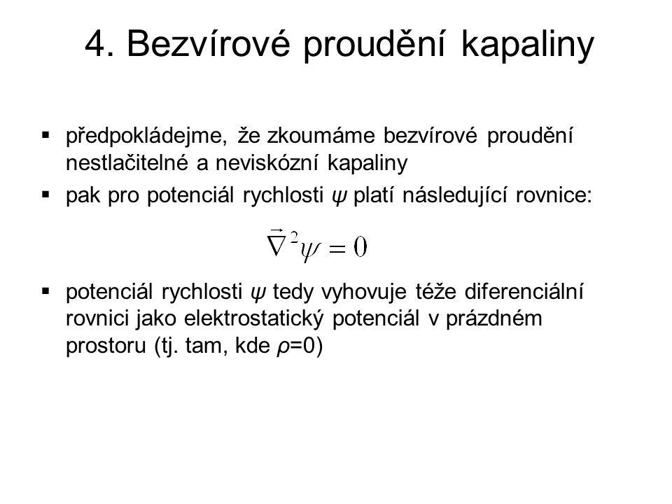 4. Bezvírové proudění kapaliny