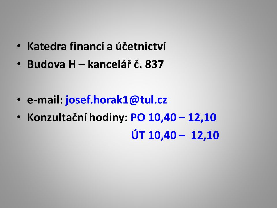 Katedra financí a účetnictví