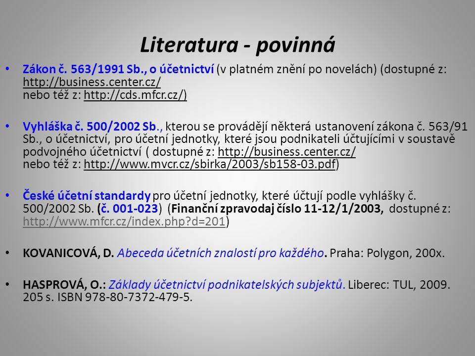 Literatura - povinná