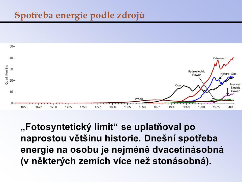 Spotřeba energie podle zdrojů