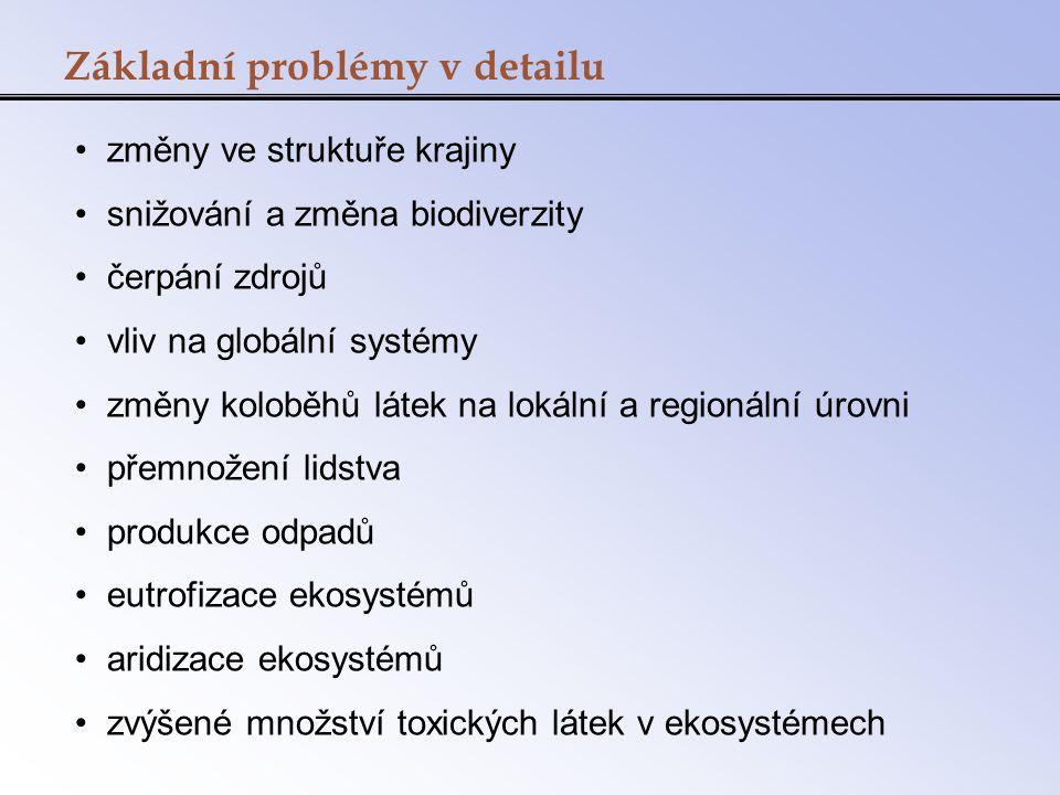 Základní problémy v detailu
