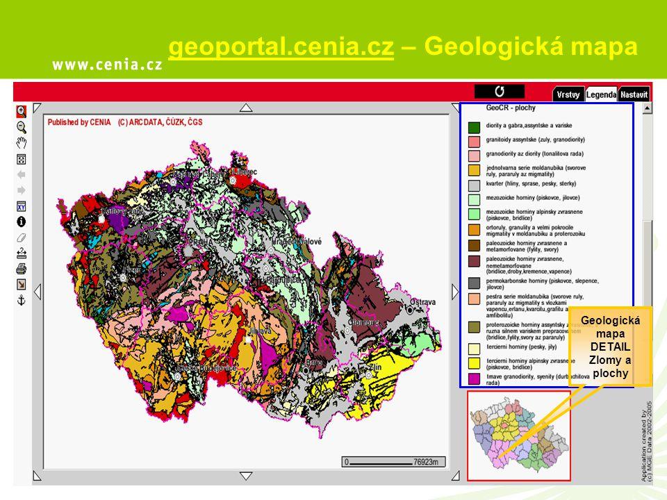 Geologická mapa DETAIL