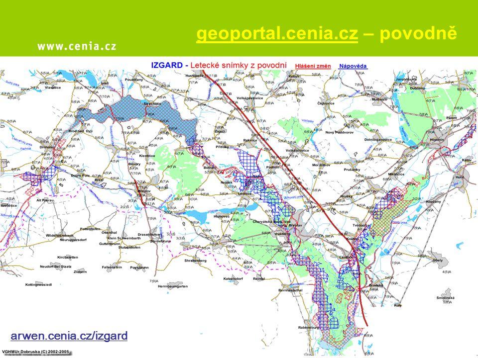 geoportal.cenia.cz – povodně