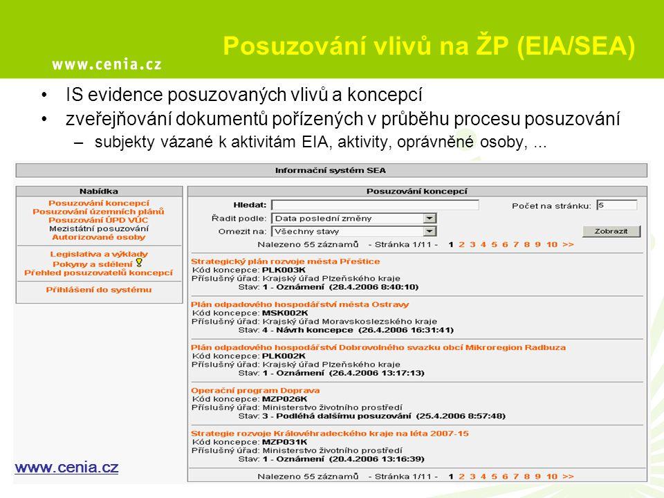 Posuzování vlivů na ŽP (EIA/SEA)