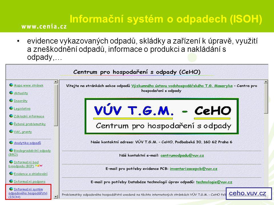 Informační systém o odpadech (ISOH)