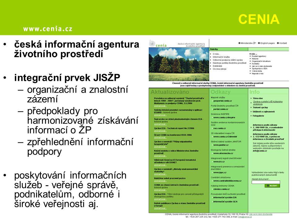 CENIA česká informační agentura životního prostředí
