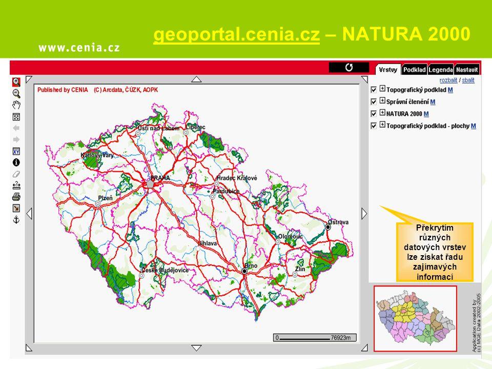 geoportal.cenia.cz – NATURA 2000