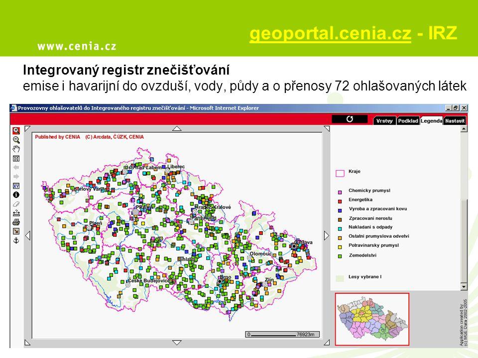 geoportal.cenia.cz - IRZ