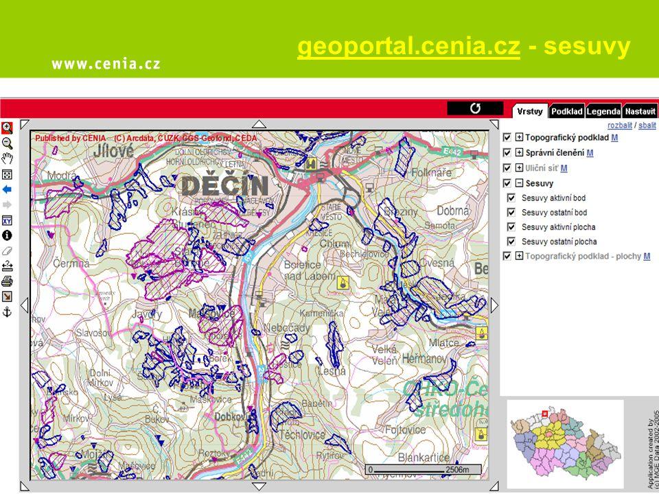 geoportal.cenia.cz - sesuvy