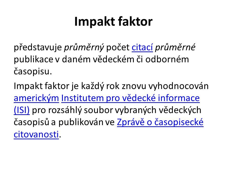 Impakt faktor