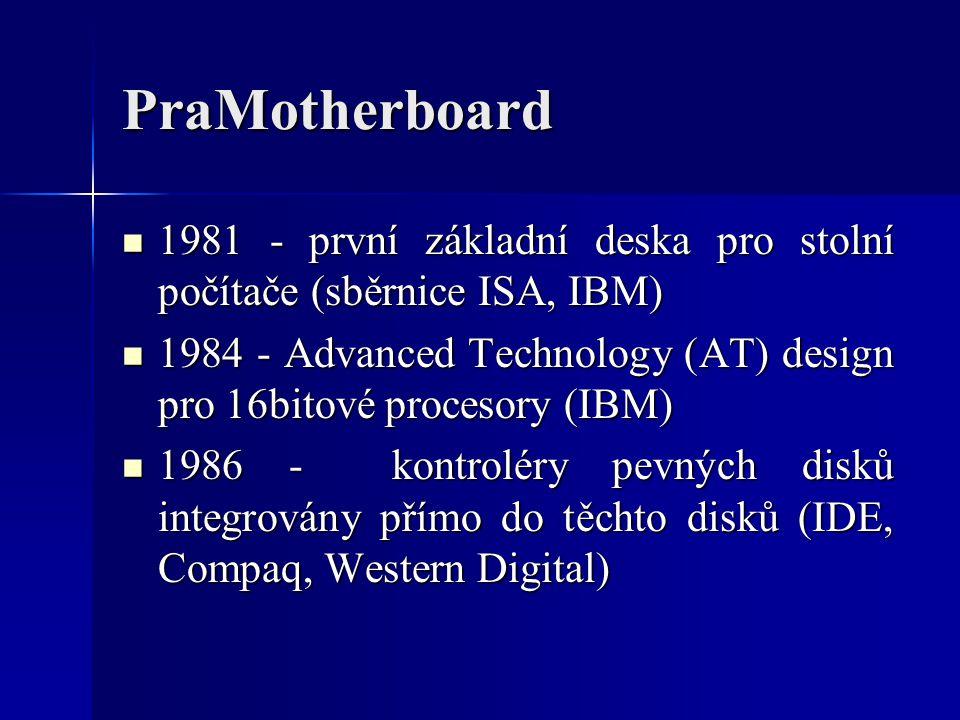 PraMotherboard 1981 - první základní deska pro stolní počítače (sběrnice ISA, IBM)