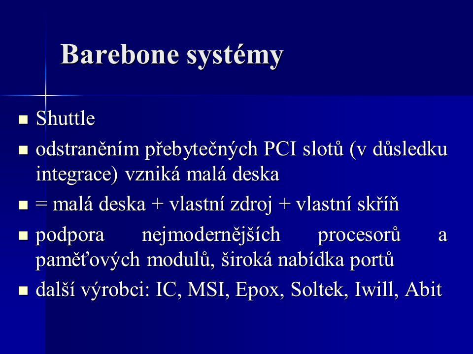 Barebone systémy Shuttle