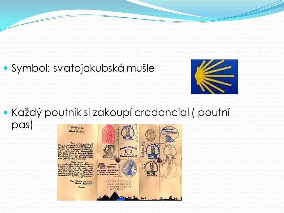 Symbol: svatojakubská mušle