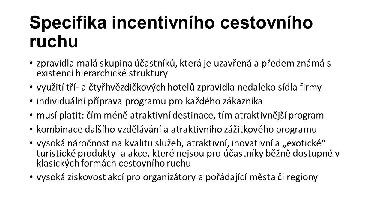 Specifika incentivního cestovního ruchu