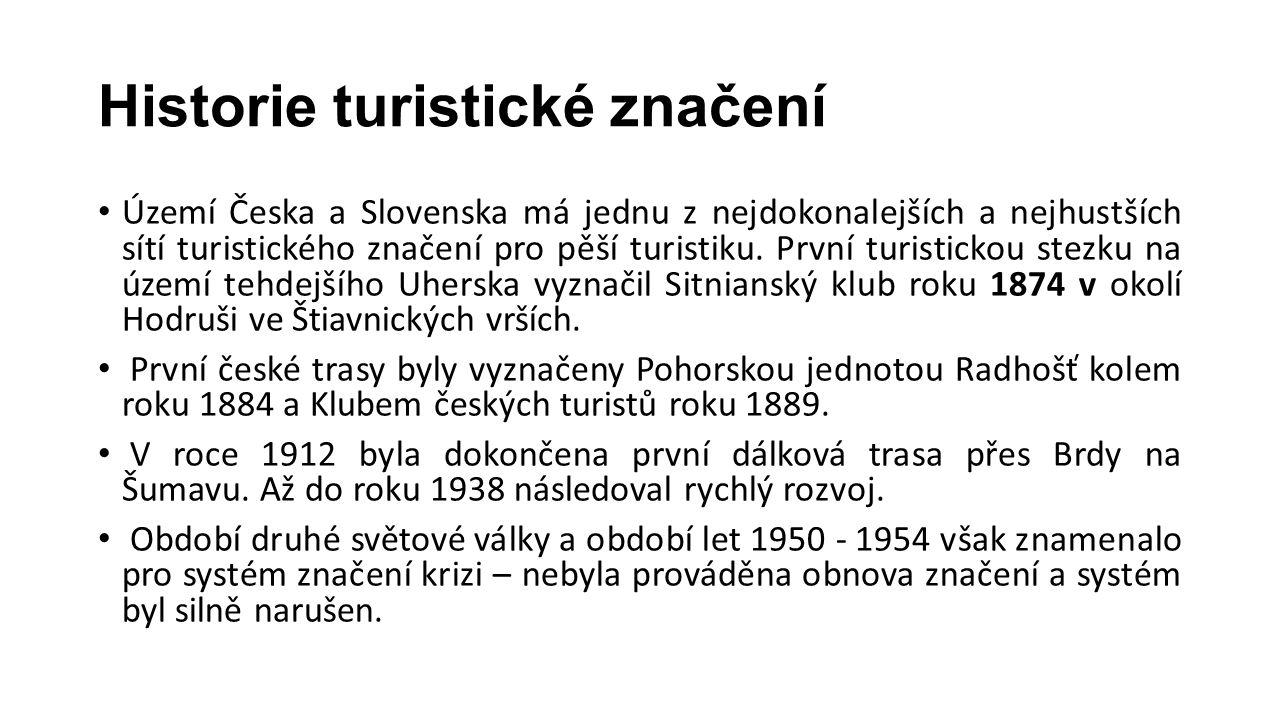 Historie turistické značení