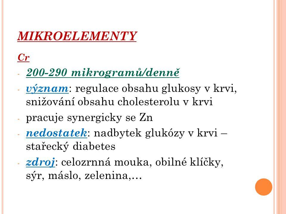 MIKROELEMENTY 200-290 mikrogramů/denně