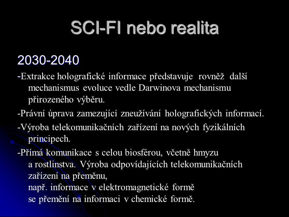 SCI-FI nebo realita 2030-2040.