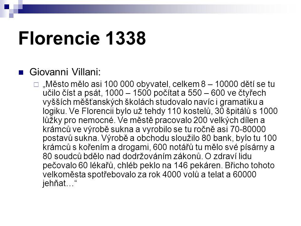 Florencie 1338 Giovanni Villani: