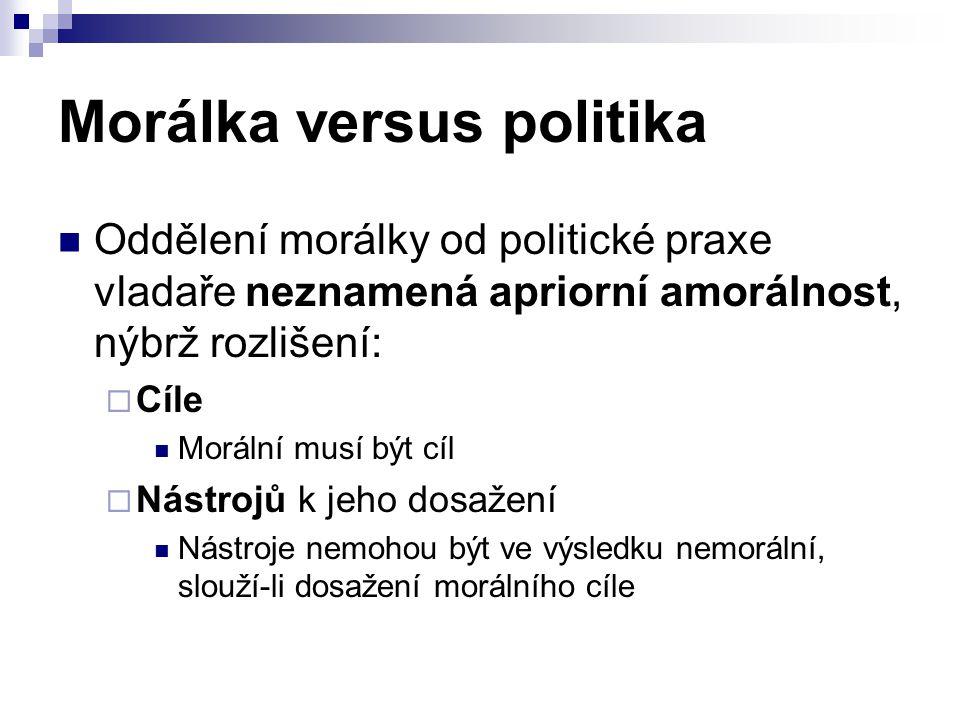 Morálka versus politika