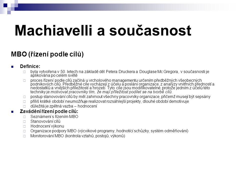 Machiavelli a současnost