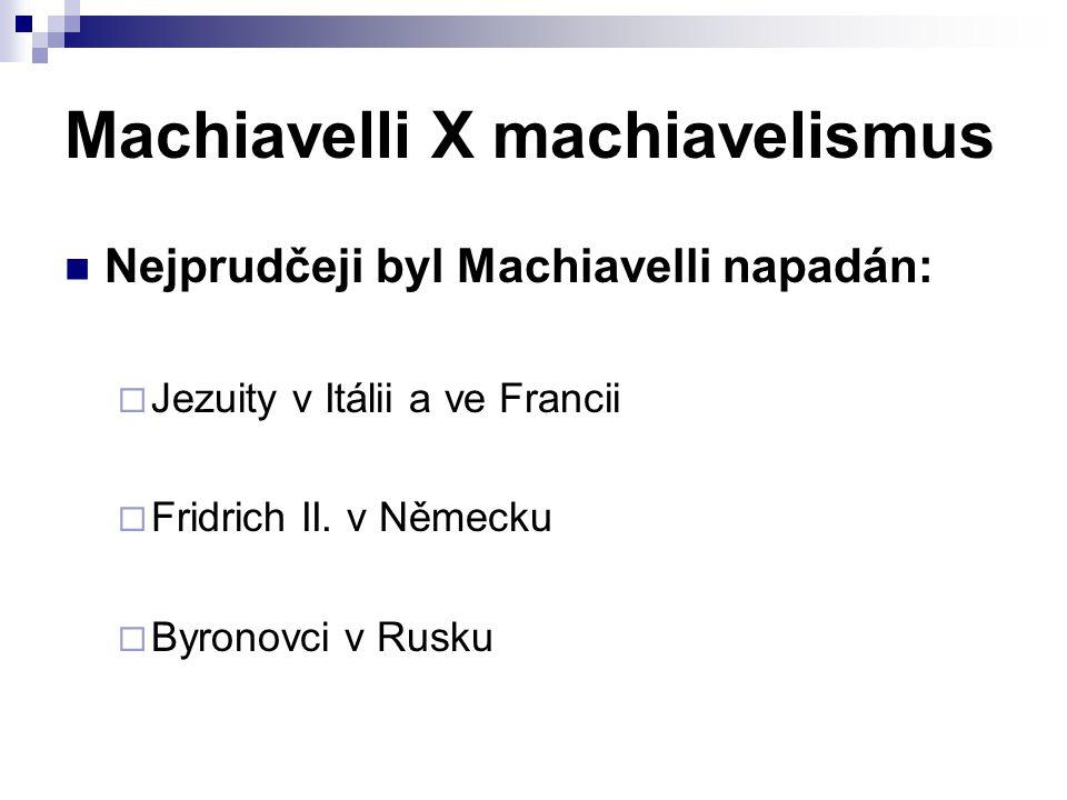 Machiavelli X machiavelismus