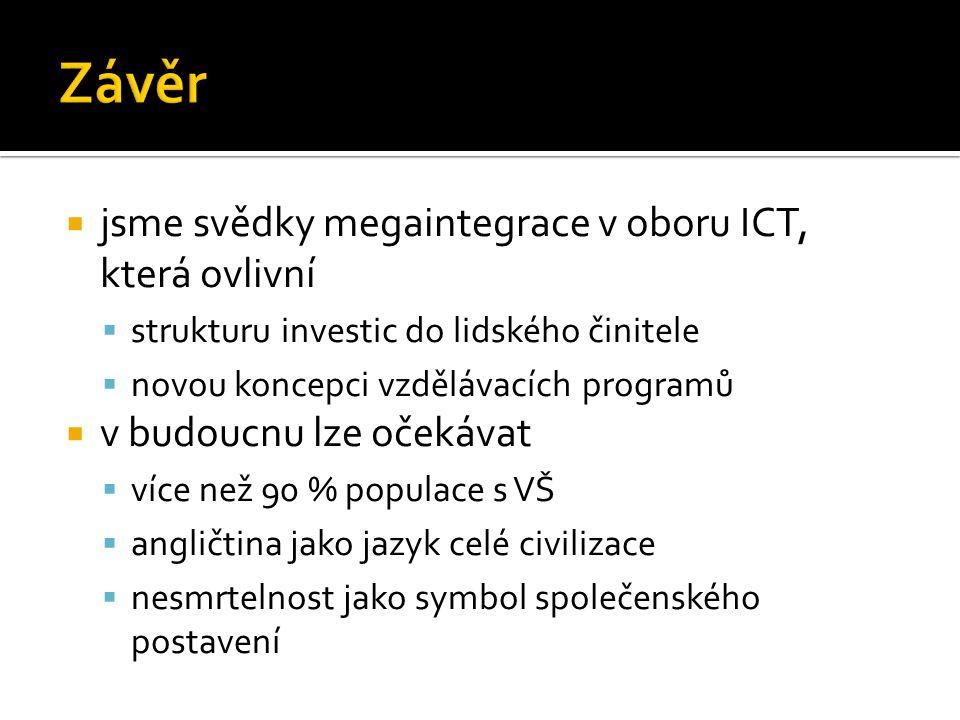 Závěr jsme svědky megaintegrace v oboru ICT, která ovlivní