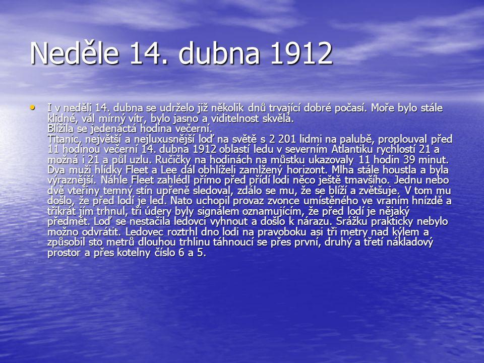 Neděle 14. dubna 1912