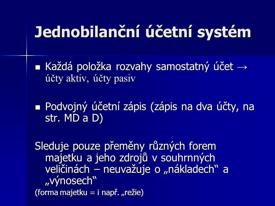 Jednobilanční účetní systém