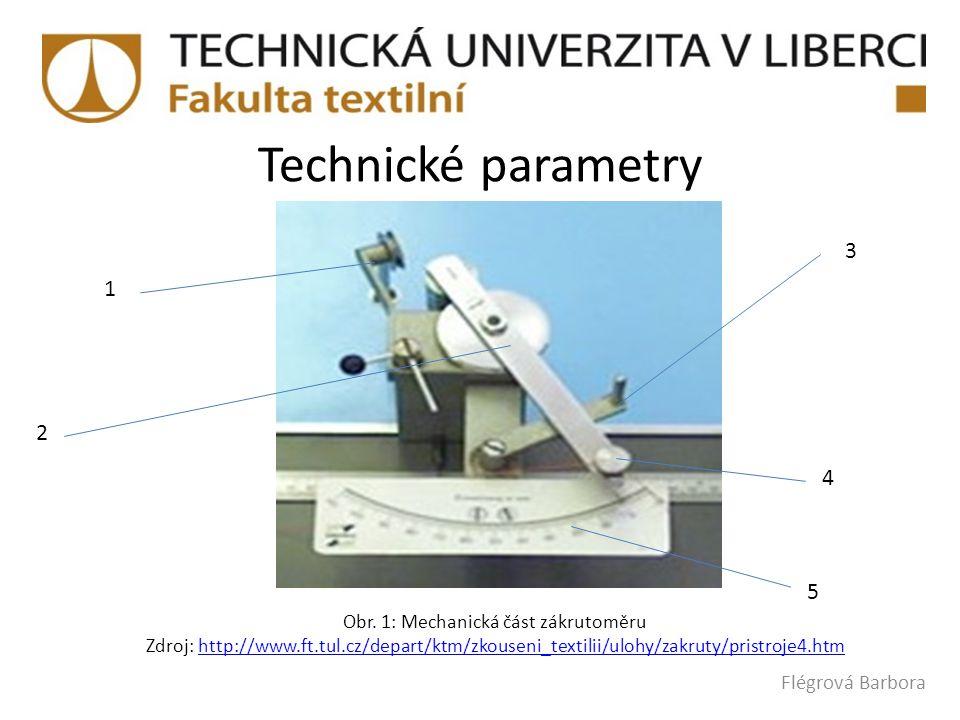 Obr. 1: Mechanická část zákrutoměru
