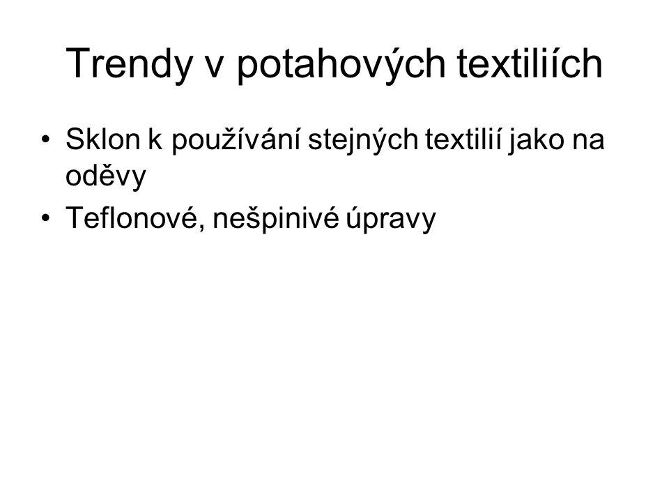 Trendy v potahových textiliích