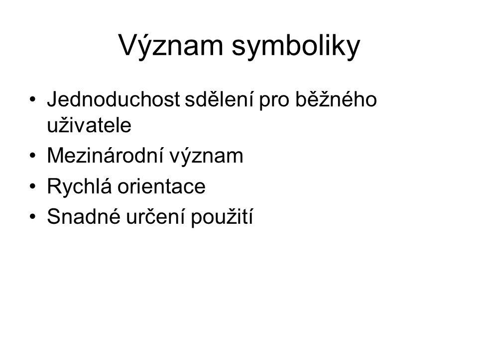 Význam symboliky Jednoduchost sdělení pro běžného uživatele