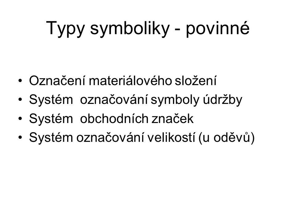 Typy symboliky - povinné