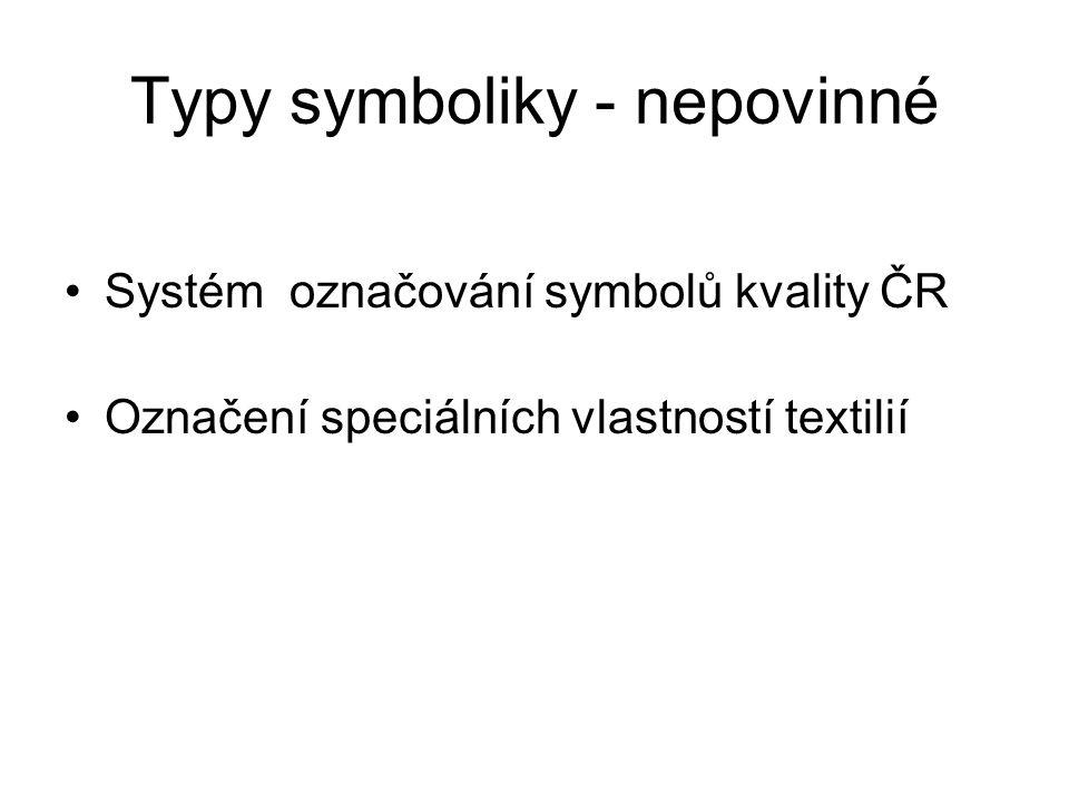 Typy symboliky - nepovinné