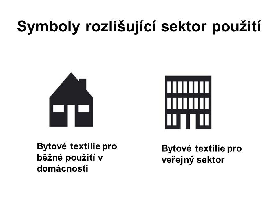 Symboly rozlišující sektor použití