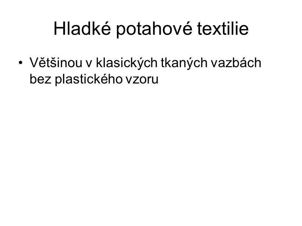 Hladké potahové textilie