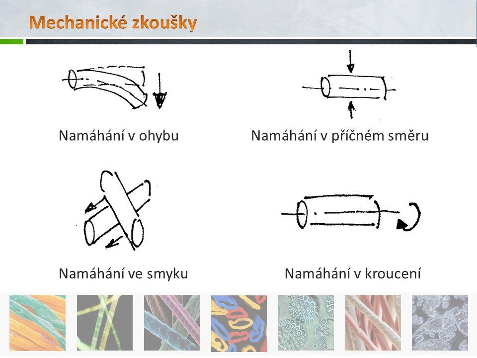 Mechanické zkoušky Namáhání v ohybu Namáhání v příčném směru