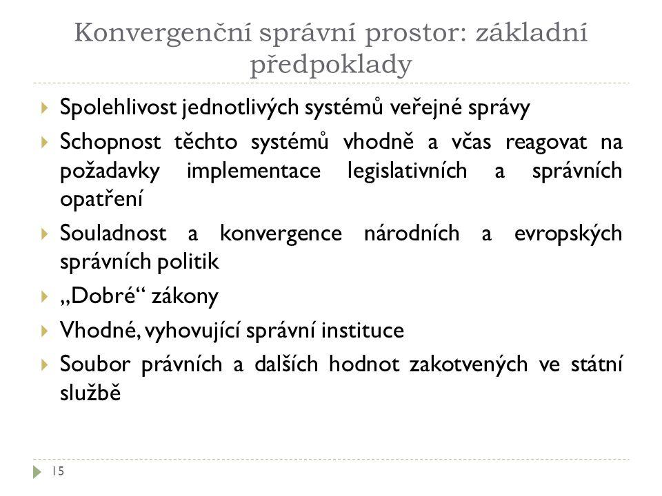 Konvergenční správní prostor: základní předpoklady
