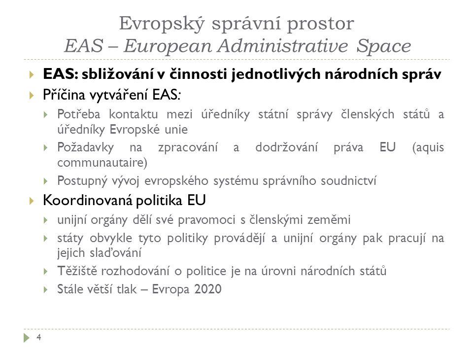 Evropský správní prostor EAS – European Administrative Space