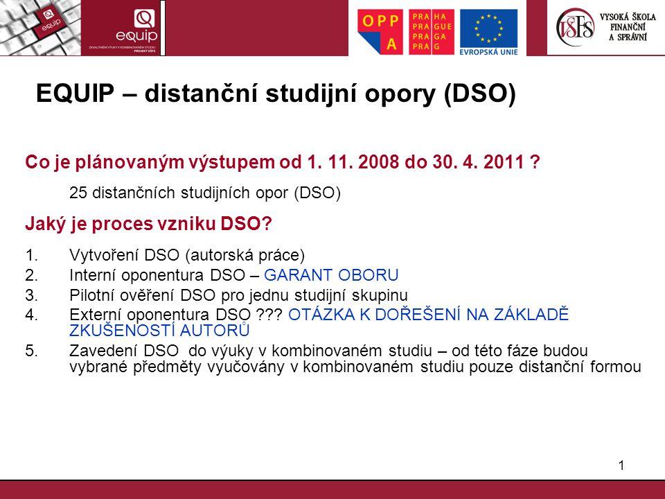 EQUIP – distanční studijní opory (DSO)