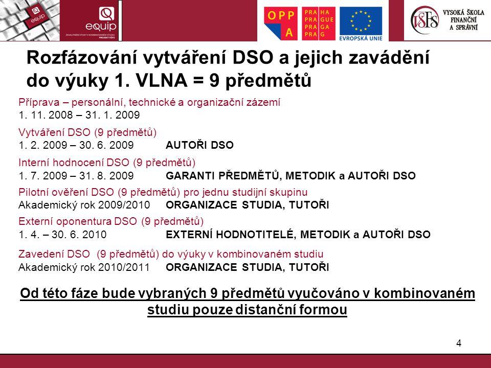 Rozfázování vytváření DSO a jejich zavádění do výuky 1