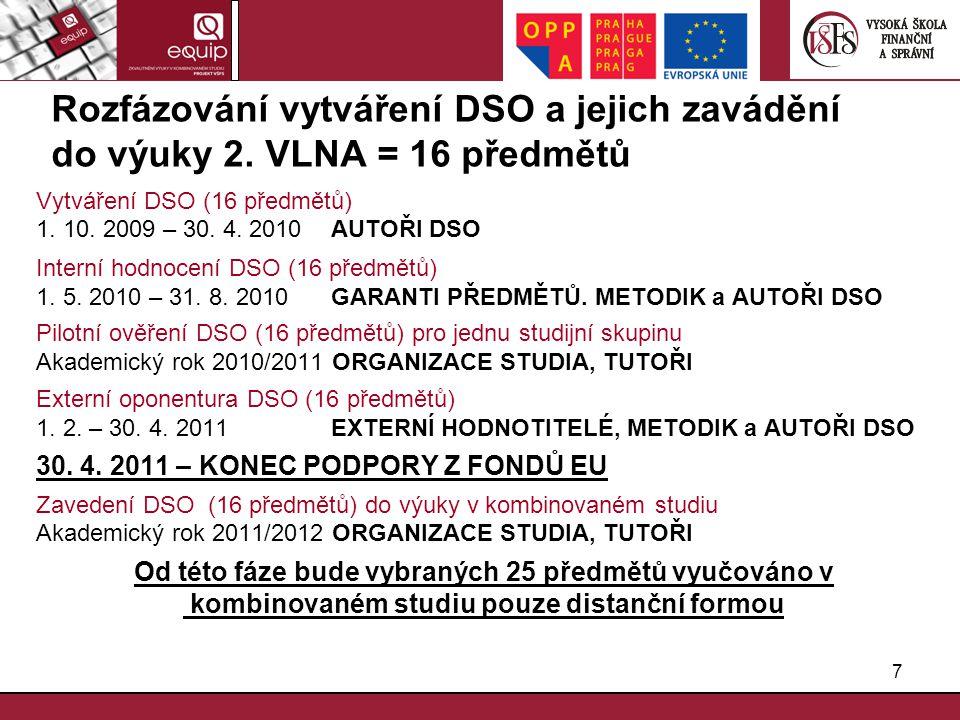 Rozfázování vytváření DSO a jejich zavádění do výuky 2