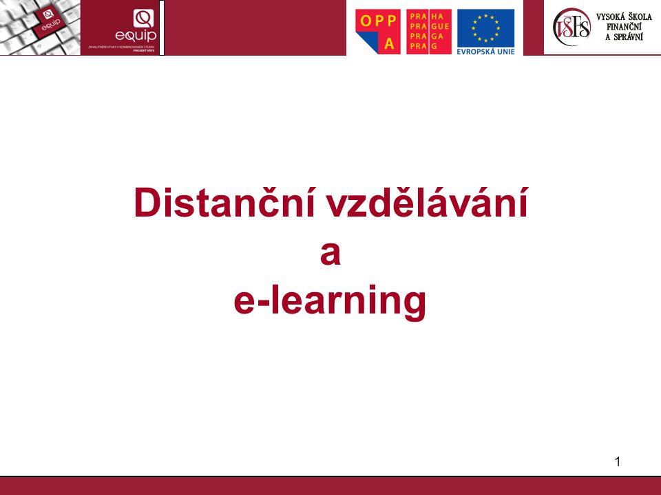 Distanční vzdělávání a e-learning