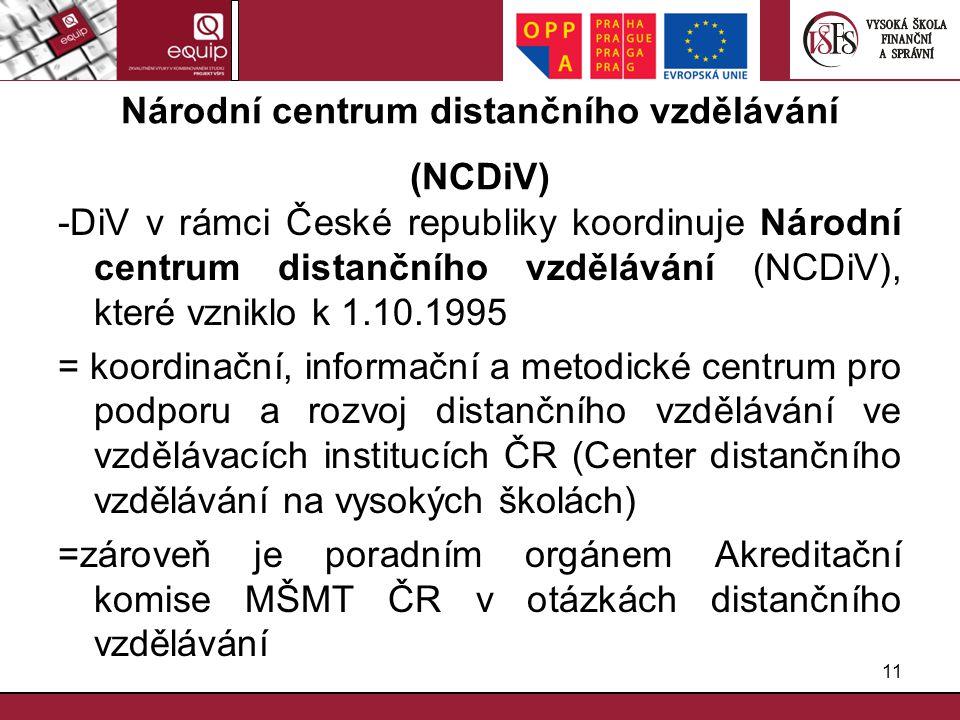 Národní centrum distančního vzdělávání (NCDiV)