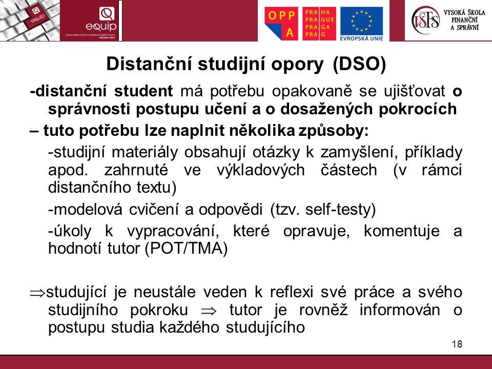 Distanční studijní opory (DSO)